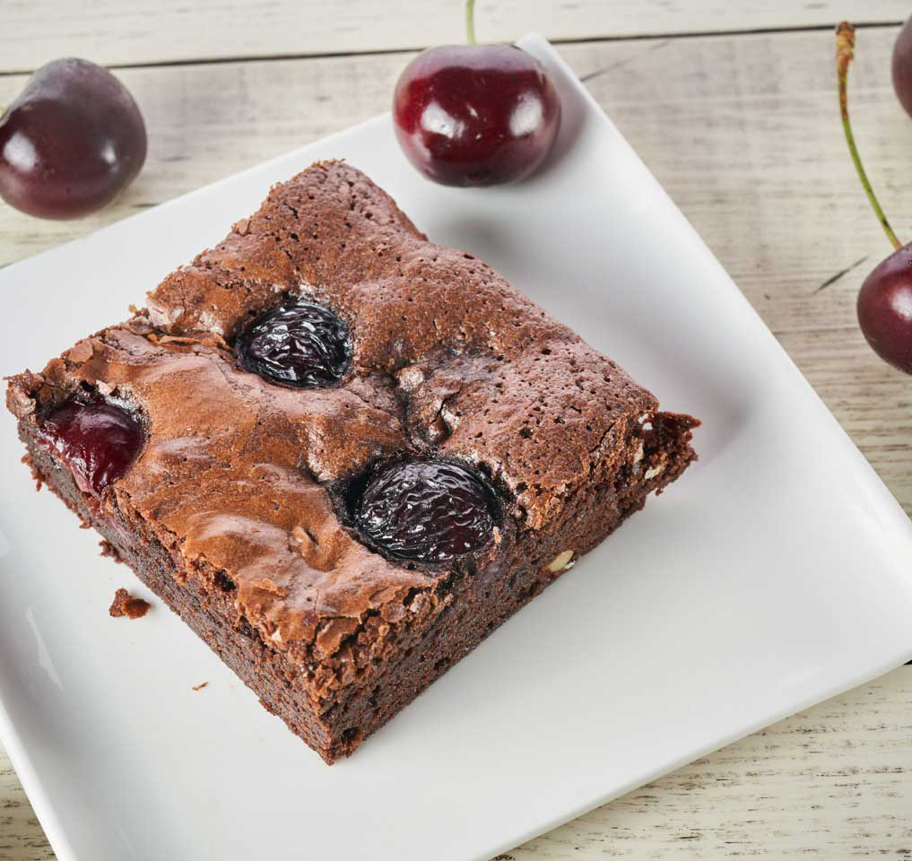 Brownie de cereza