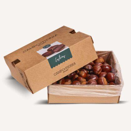 Castañas caja de 2,5kg con 40/60 unidades