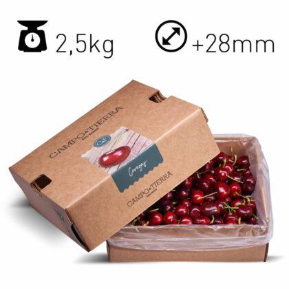 Cerezas caja de 2,5Kg Calibre +28