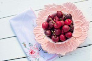 calorías y cerezas